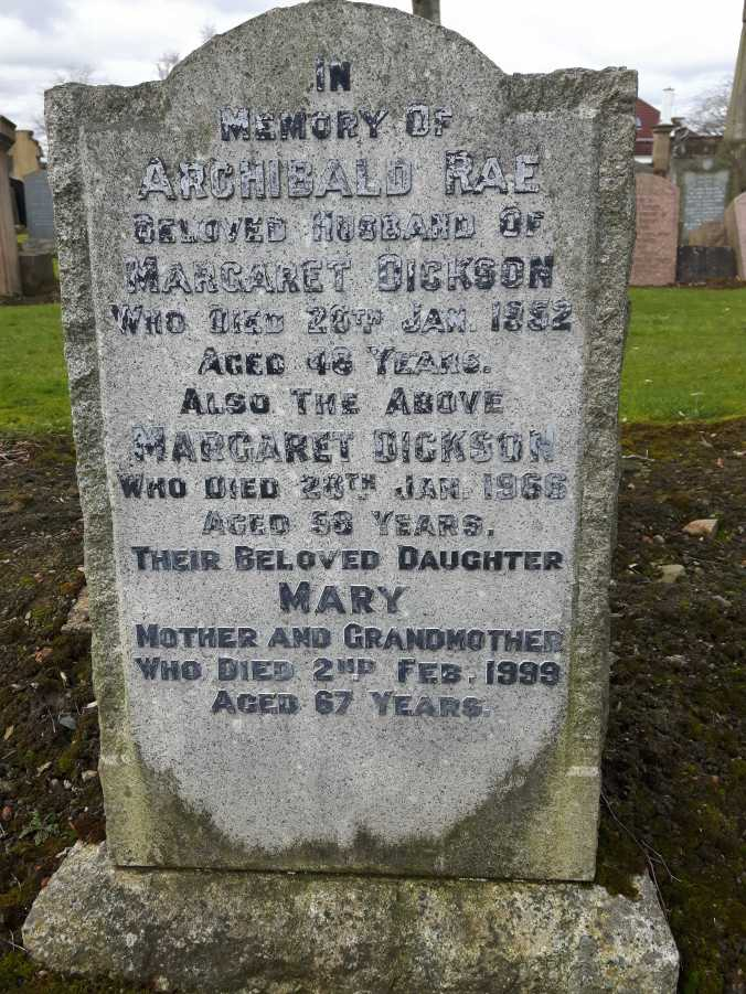 Archibald and Margaret headstone